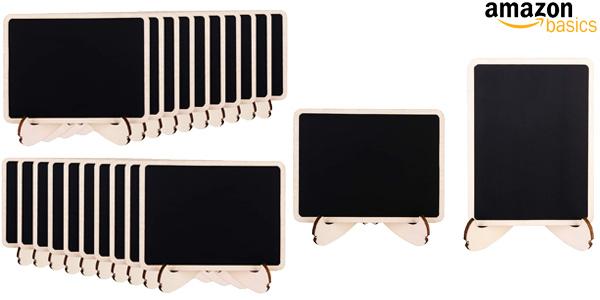 Pack x20 Minipizarras de madera Amazon Basics con caballete de apoyo baratas en Amazon