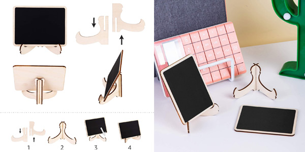 Pack x20 Minipizarras de madera Amazon Basics con caballete de apoyo oferta en Amazon