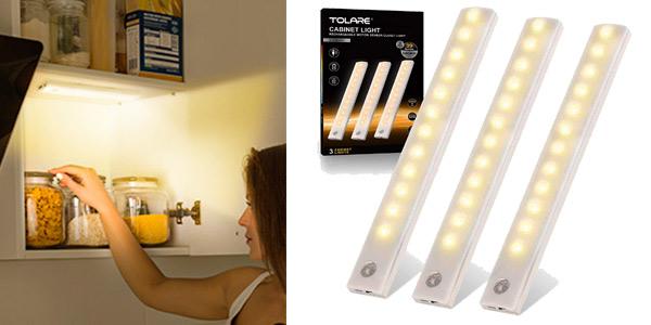 Pack x3 Luces LED Tolare con sensor de movimiento