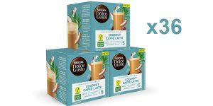 Pack x36 cápsulas veganas Nescafé Dolce Gusto Coco Latte baratas en Amazon