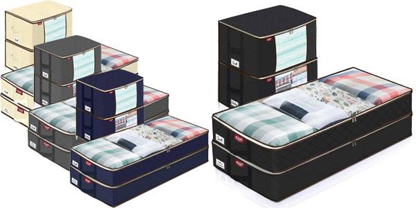 Pack x4 Bolsas de almacenaje de gran capacidad Joyxeon para ropa baratas en Amazon