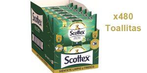 Pack x480 Toallitas Scottex Sensitive Aloe Vera de papel higiénico húmedo barato en Amazon