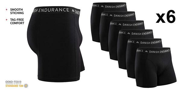 Pack x6 Boxers Danish Endurance para hombre baratos en Amazon