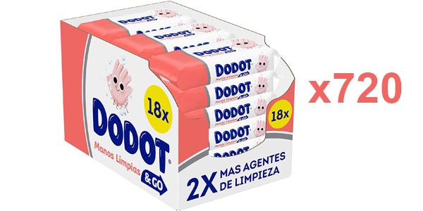 Pack x720 Toallitas higienizantes Dodot Manos Limpias & Go baratas en Amazon