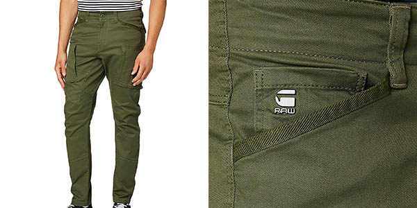 Pantalones G-Star Raw Zip Pocket 3D baratos