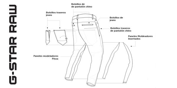 Pantalones vaqueros G-Star Raw D-STAQ 3D para hombre oferta en Amazon
