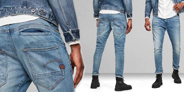 Pantalones vaqueros G-Star Raw D-STAQ 3D para hombre baratos en Amazon