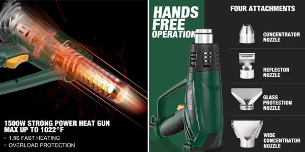 Pistola de Aire Caliente Teccpo 2000W chollo en Amazon