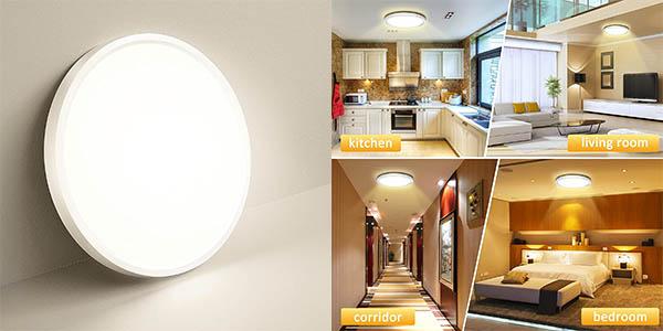 Plafón LED OUILA de 18W y clase A+