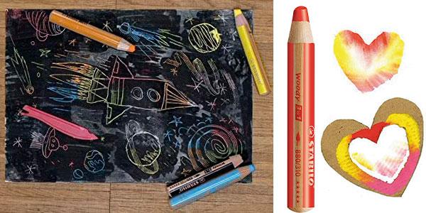 Set de 6 lápices Stabilo Woody 3 en 1 ARTY con sacapuntas barato