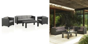 Set Diva Tropea Grafito muebles jardín chollo