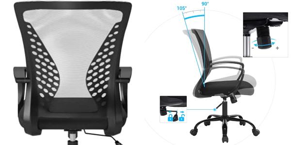 Silla de escritorio giratoria Songmics con respaldo ergonómico inclinable y regulable en altura chollo en Amazon