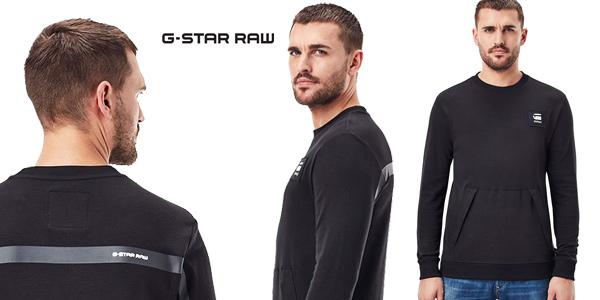 Sudadera G-Star Raw Box Logo Pocket Tweater para hombre barata en Amazon