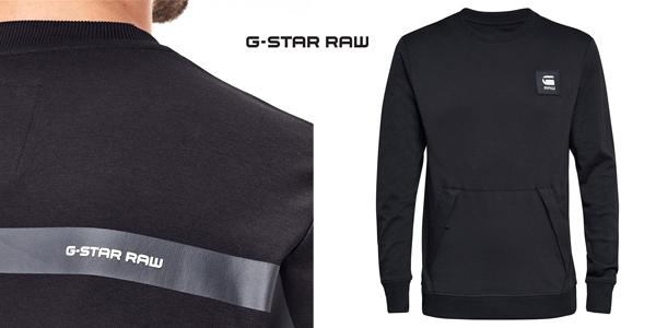 Sudadera G-Star Raw Box Logo Pocket Tweater para hombre chollo en Amazon