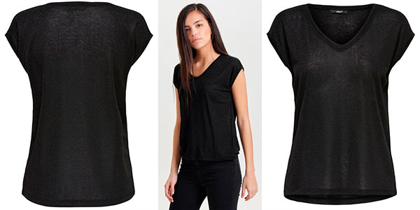 Top Only Onlsilvery para mujer barato