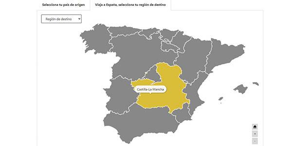 Travel Safe Turespaña restricciones país