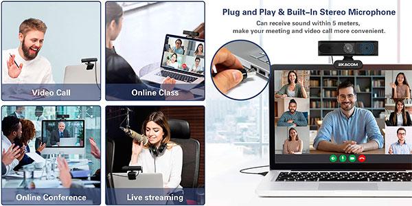 Webcam Ekacom K50E 1080P Full HD con micro barata