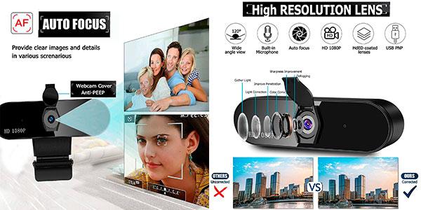 Webcam Warmtuyo Full HD USB con micrófono doble para PC barata