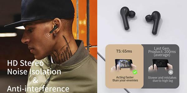 Xiaomi QCY t5 TWS auriculares oferta
