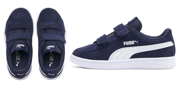 Zapatillas infantiles Puma Smash Suede baratas