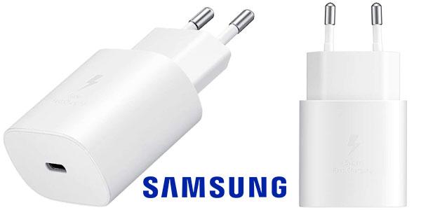 Chollo Cargador de red rápido Samsung de 25 W con USB-C