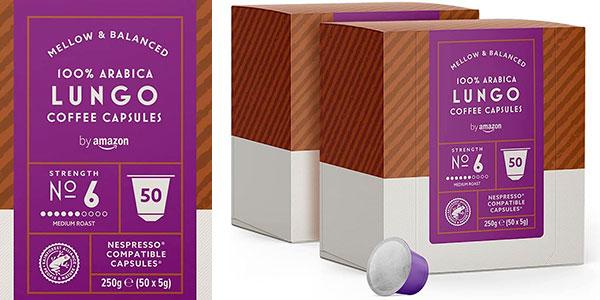 Chollo Pack de 100 cápsulas de café Amazon Lungo compatibles con Nespresso
