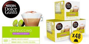 Chollo Pack de 48 cápsulas de café Cappuccino Ligth de Nescafé Dolce Gusto