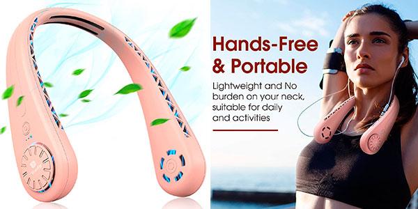 Chollo Ventilador de cuello USB recargable Tesoky
