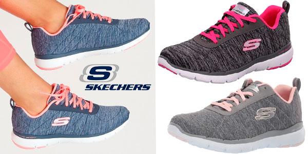 Chollo Zapatillas Skechers Flex Appeal 3.0-Insiders para mujer