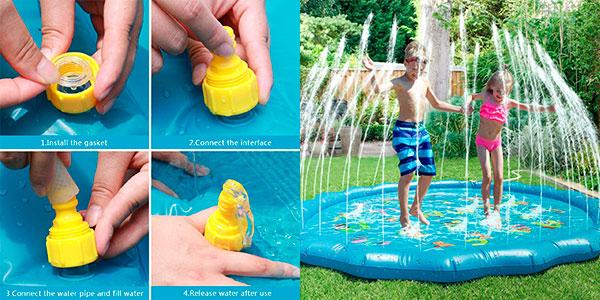 Colchoneta Fostoy Splash con chorros de agua barata