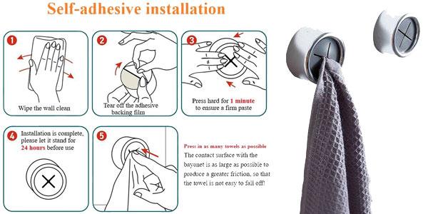 Soporte adhesivo para paños y toallas chollo en AliExpress