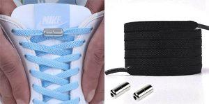 Cordones elásticos con cierre metálico para calzado deportivo