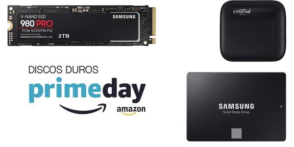 Discos duros en el Prime Day de Amazon