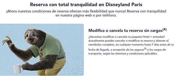 Disneyland Paris entradas cancelación flexible