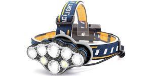 Frontal LED HONHENMIN con 8 modos de luz
