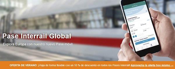 Interrail promoción billetes verano