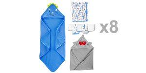 Juego x8 toallas Simple Joys by Carter's para bebé barato en Amazon