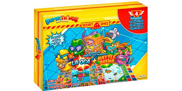 Juego de mesa SuperThings 2 en 1 (La Oca, Battle Arena) con 4 figuras barato