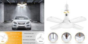 Lámpara LED para garaje Haofy de 60W con paneles ajustables barata en Amazon