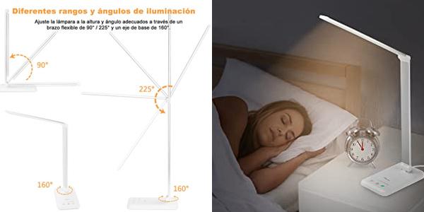 Lámpara LED de escritorio Flauno con 5 modos de luz oferta en Amazon
