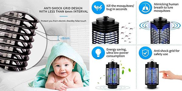 Lámpara LED antimosquitos Maxineer de luz ultravioleta barata