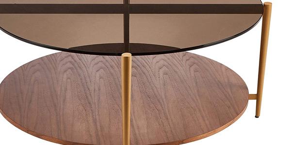 Mesa de centro redonda Rivet Coffee Table oferta en Amazon