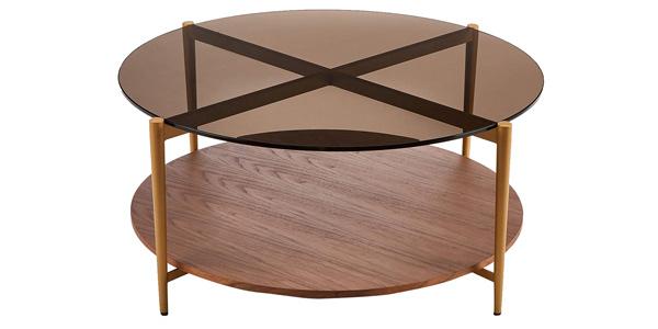 Mesa de centro redonda Rivet Coffee Table barata en Amazon