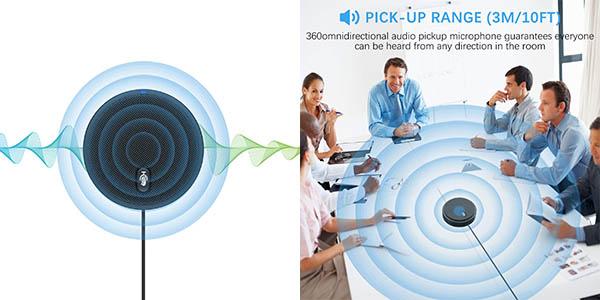Micrófono de conferencia USB omnidireccional XIIVIO 360° en Amazon
