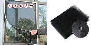 Mosquitera con velcro para ventana o puerta barata en AliExpress