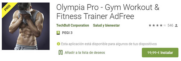 Olympia Pro app ejercicios gratis Android