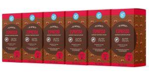 Pack x120 Cápsulas de café de aluminio Espresso Happy Belly Nespresso baratas en Amazon