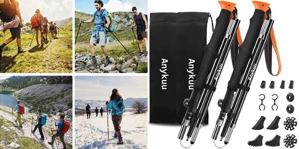 Pack x2 Bastones trekking de longitude adjustable baratos en Amazon