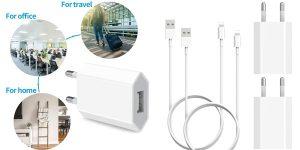 Pack x2 cargadores iPhone (enchufe + cable Lightning) JuneyZz barato en Amazon