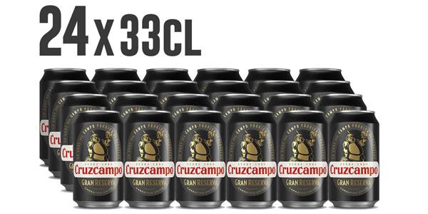 Pack x24 latas Cruzcampo Gran Reserva de 330 ml barata en Amazon